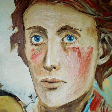 Retrato de Virginia Woolf en su juventud, una referencia para las mujeres escritoras.